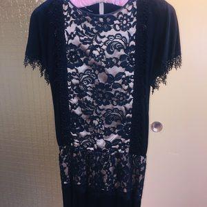Vintage Jessica McClintock Couture Black Dress